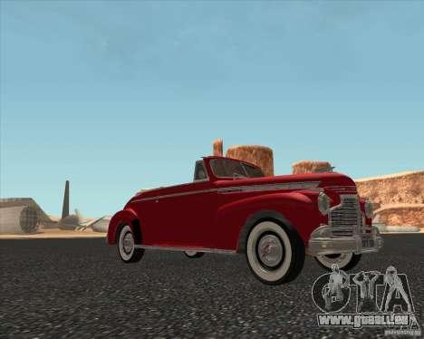 Chevrolet Special DeLuxe 1941 pour GTA San Andreas sur la vue arrière gauche