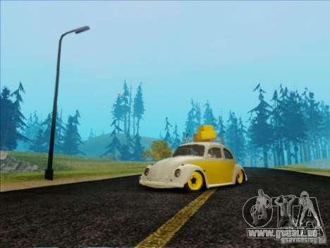 Volkswagen Beetle Edit für GTA San Andreas Rückansicht