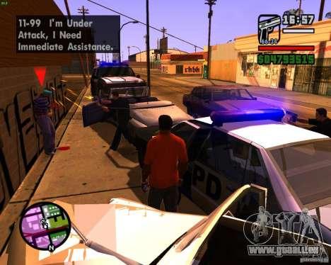 Chassant les machines pour GTA San Andreas quatrième écran