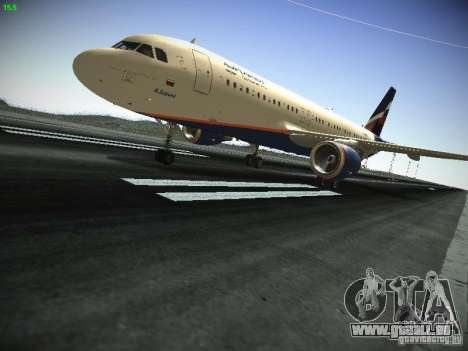Aeroflot Russian Airlines Airbus A320 für GTA San Andreas