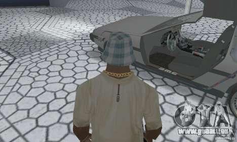 DeLorean DMC-12 (BTTF2) für GTA San Andreas Rückansicht