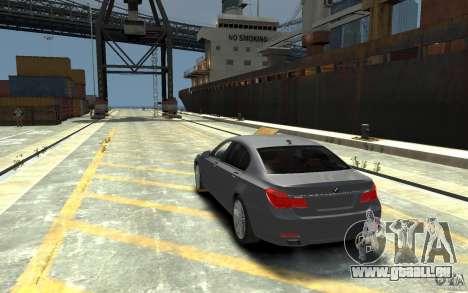 BMW ActiveHybrid 7 2010 pour GTA 4 Vue arrière de la gauche