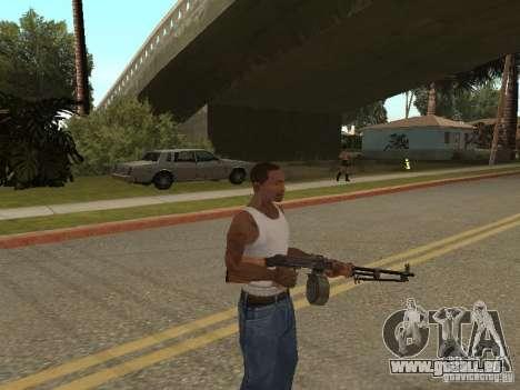 Leichtes Maschinengewehr Dâgterëva für GTA San Andreas dritten Screenshot