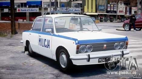Fiat 125p Polski Milicja pour GTA 4 Vue arrière