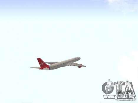 Airbus A340-600 Virgin Atlantic pour GTA San Andreas vue intérieure