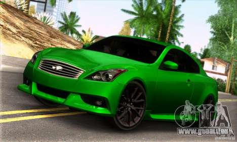 Infiniti IPL G Coupe 2012 für GTA San Andreas