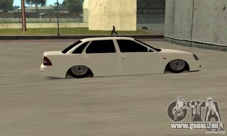 Lada Priora Low pour GTA San Andreas vue de droite