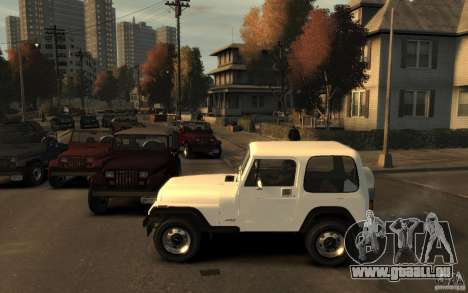 Jeep Wrangler 1986 für GTA 4 linke Ansicht