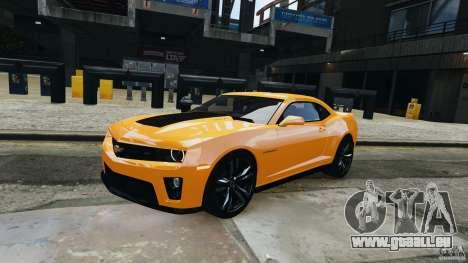 Chevrolet Camaro ZL1 2012 pour GTA 4 est une gauche