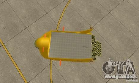 Transporteur aérien de plate-forme élévatrice pour GTA San Andreas vue arrière