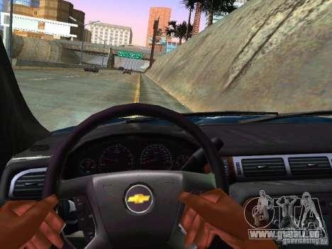 Chevrolet Tahoe 2008 Police Federal pour GTA San Andreas vue intérieure