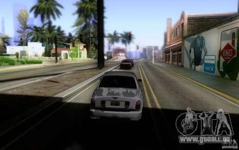 Bentley Arnage pour GTA San Andreas vue arrière