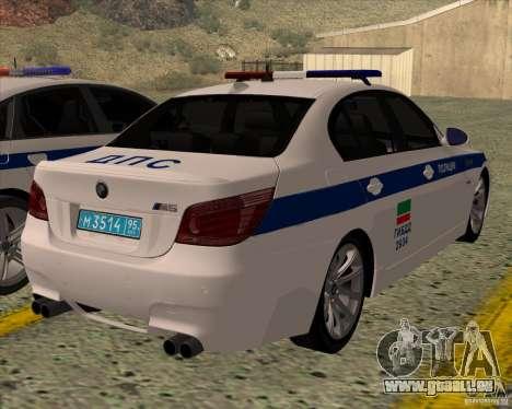 BMW M5 E60 DPS pour GTA San Andreas laissé vue