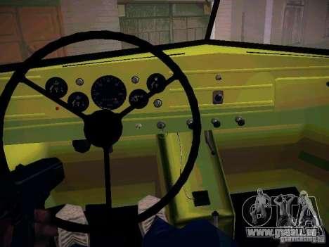 GAZ 51 Assinizator pour GTA San Andreas vue intérieure