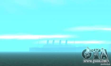 RMS Titanic pour GTA San Andreas vue de dessous