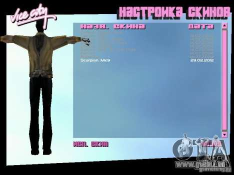 MK 9 Scorpion Costume für GTA Vice City dritte Screenshot