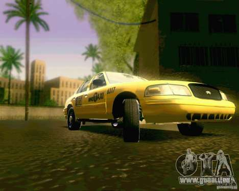 Ford Crown Victoria 2003 NYC TAXI pour GTA San Andreas vue arrière