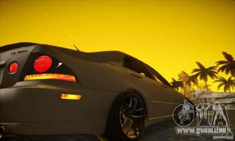 Lexus IS 300 für GTA San Andreas Rückansicht