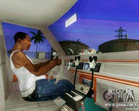 Ford Crown Victoria LTD 1991 LVMPD pour GTA San Andreas vue intérieure