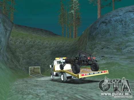 GAZ 3302 2003-2011. Dépanneuse pour GTA San Andreas laissé vue