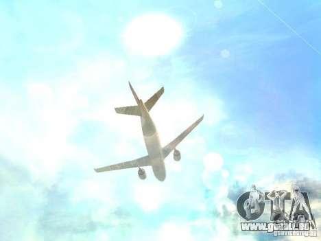 Airbus A300-600 Air France pour GTA San Andreas vue de dessus