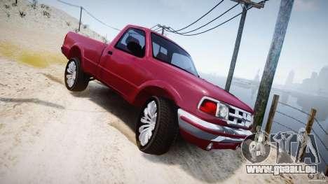 Ford Ranger pour GTA 4 vue de dessus