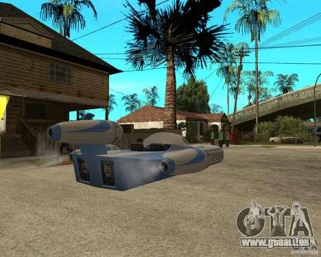 X34 Landspeeder für GTA San Andreas zurück linke Ansicht