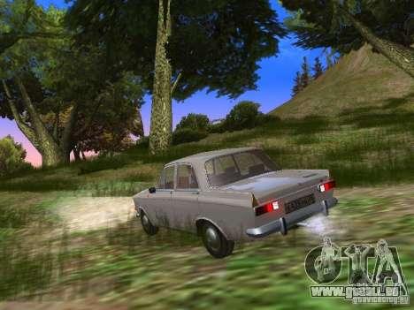 AZLK-412 pour GTA San Andreas sur la vue arrière gauche