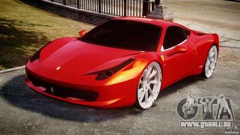 Ferrari 458 Italia Dub Edition für GTA 4 Rückansicht
