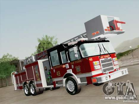 Pierce Rear Mount SFFD Ladder 49 für GTA San Andreas rechten Ansicht