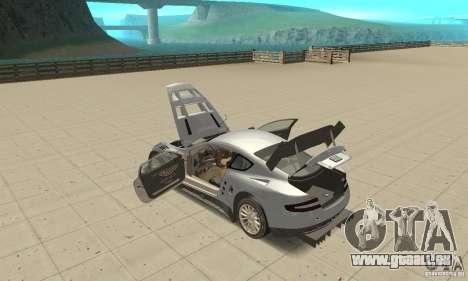 Aston Martin DBR9 (v1.0.0) für GTA San Andreas Innenansicht