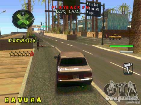 HUD Convenient and easy BETA für GTA San Andreas fünften Screenshot