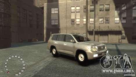 Toyota Land Cruiser 200 2010 pour GTA 4 est une gauche