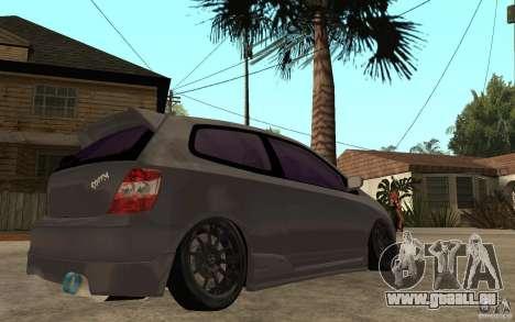 Honda Civic Type-R pour GTA San Andreas vue de droite