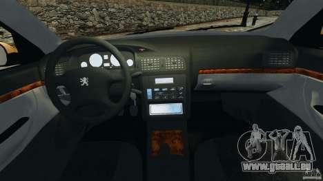 Peugeot 406 Taxi pour GTA 4 Vue arrière