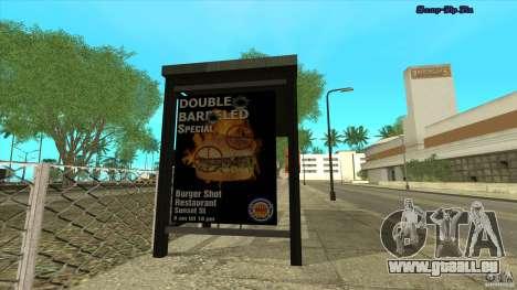 Arrêts de bus en HD pour GTA San Andreas deuxième écran