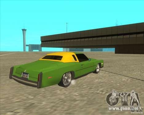 Cadillac Eldorado pour GTA San Andreas sur la vue arrière gauche