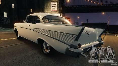 Chevrolet Bel Air Hardtop 1957 Light Tun für GTA 4 hinten links Ansicht