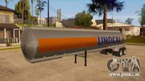 Citerne semi-remorque pour GTA San Andreas vue intérieure
