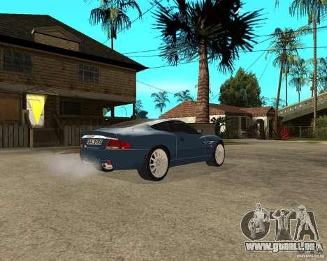 Aston Martin Vanquish pour GTA San Andreas vue de droite