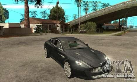 Aston Martin Rapide 2010 pour GTA San Andreas vue arrière