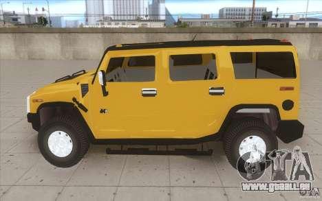 Hummer H2 pour GTA San Andreas laissé vue