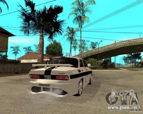 AZLK 2140 sous terre pour GTA San Andreas sur la vue arrière gauche