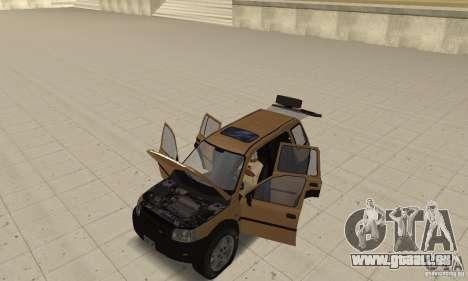 Land Rover Freelander KV6 pour GTA San Andreas vue arrière