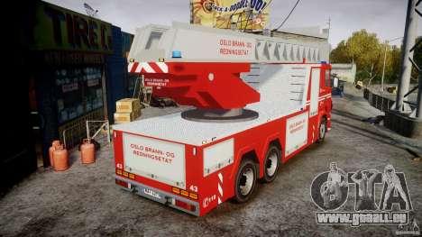 Scania Fire Ladder v1.1 Emerglights blue [ELS] pour GTA 4 est une vue de l'intérieur