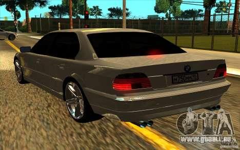 BMW 750iL E38 pour GTA San Andreas vue de côté