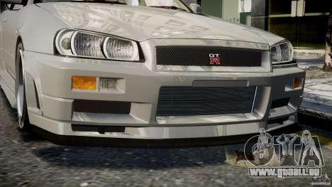 Nissan Skyline R34 Nismo für GTA 4 Unteransicht