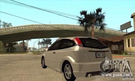 Ford Focus SVT pour GTA San Andreas sur la vue arrière gauche