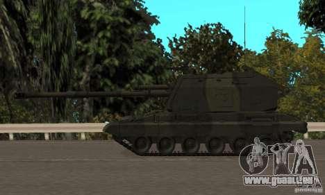 Msta-s 2s19, version standard pour GTA San Andreas sur la vue arrière gauche