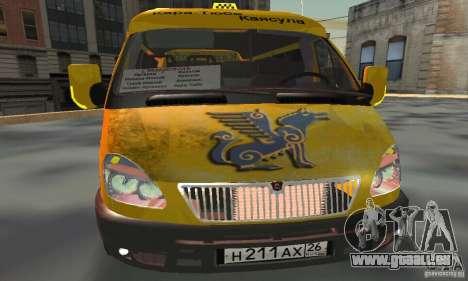 Gazelle 2705 Minibus für GTA San Andreas Rückansicht